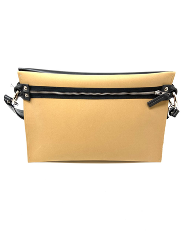 Italian Dual Color Crossbody Bag