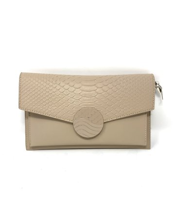 Clutch Bag, Beige