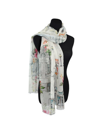 Bellagio Watercolor Cotton Scarf
