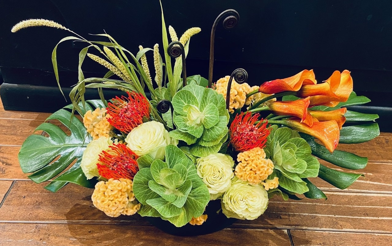 Fall inspired fresh flowers shop evantine philadelphia