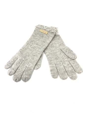 Cashmere Fringe Gloves, Grey