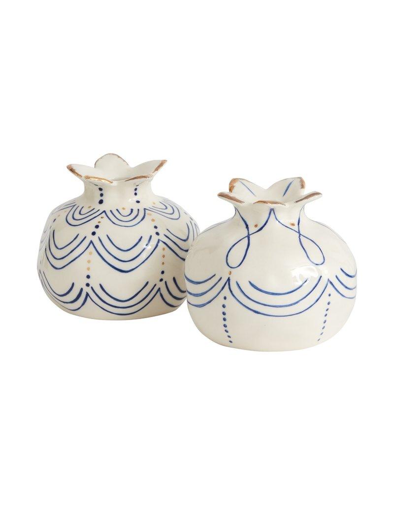 Pomegranate Ceramic Bud Vase , Waves