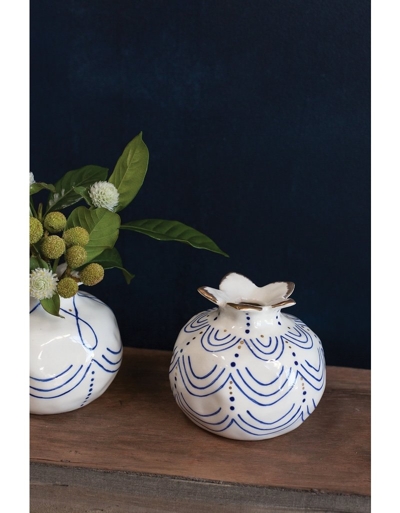 Pomegranate Ceramic Bud Vase