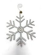 "5"" Rhinestone Snowflake Ornament"