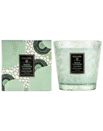 Voluspa White Cypress 2-Wick Candle