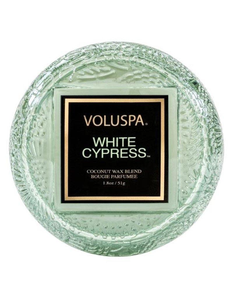 Voluspa White Cypress Macaron Candle