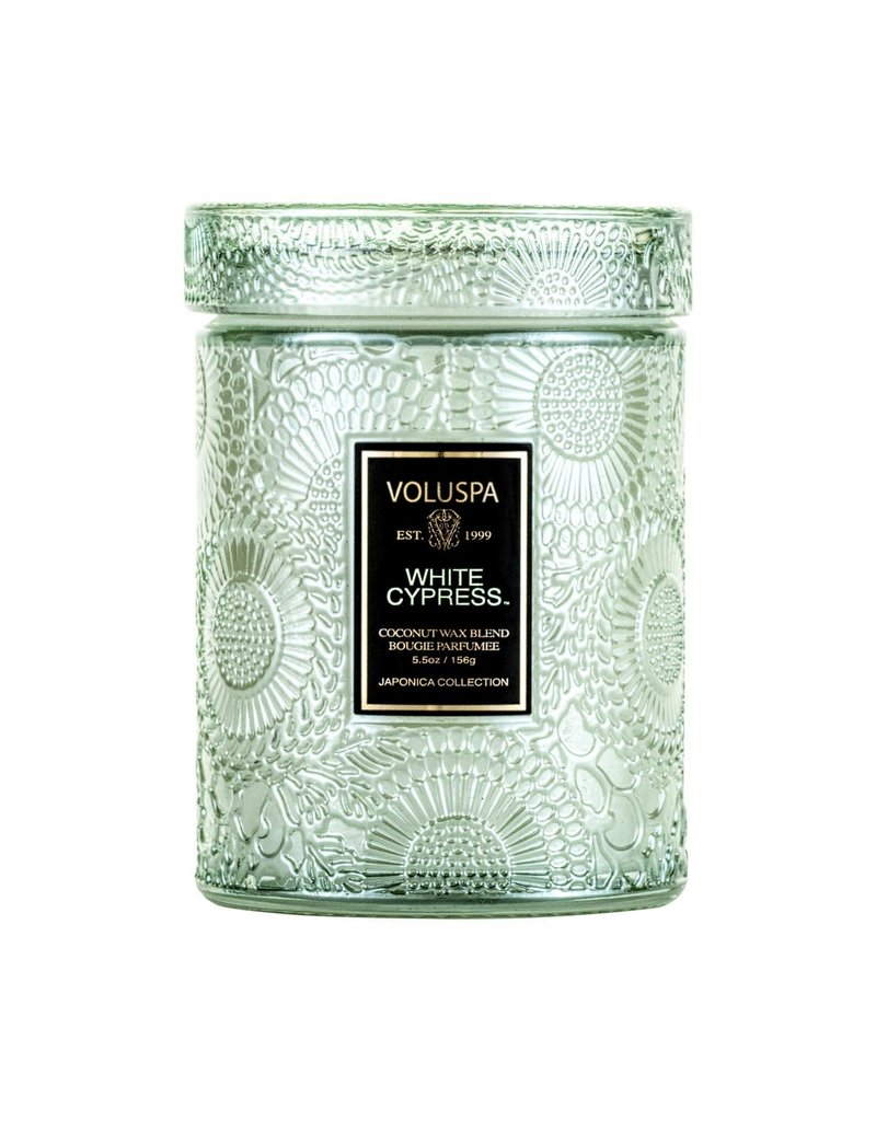 Voluspa White Cypress Small Jar Candle