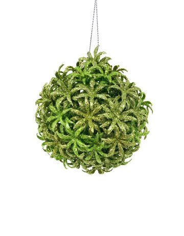 "4"" Starburst Ball Apple Green Ornament"