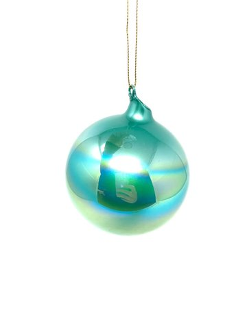 "4"" Blue Pearl Ball Ornament"