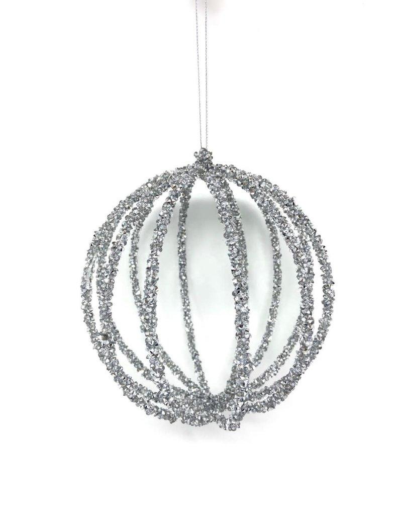 "6"" Glitter Filigree Ball Ornament"