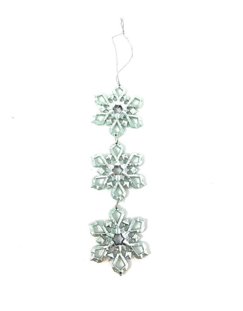 "7.75"" Snowflake Drop Ornament"