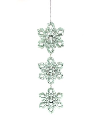 "7.75"" Snowflake Drop Ornament"