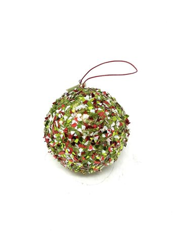 "5"" Sequin Ball R/W/G Ornament"