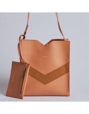 Emily Crossbody Vegan Bag, Caramel