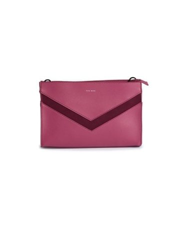 Emily Vegan Clutch, Red Bean