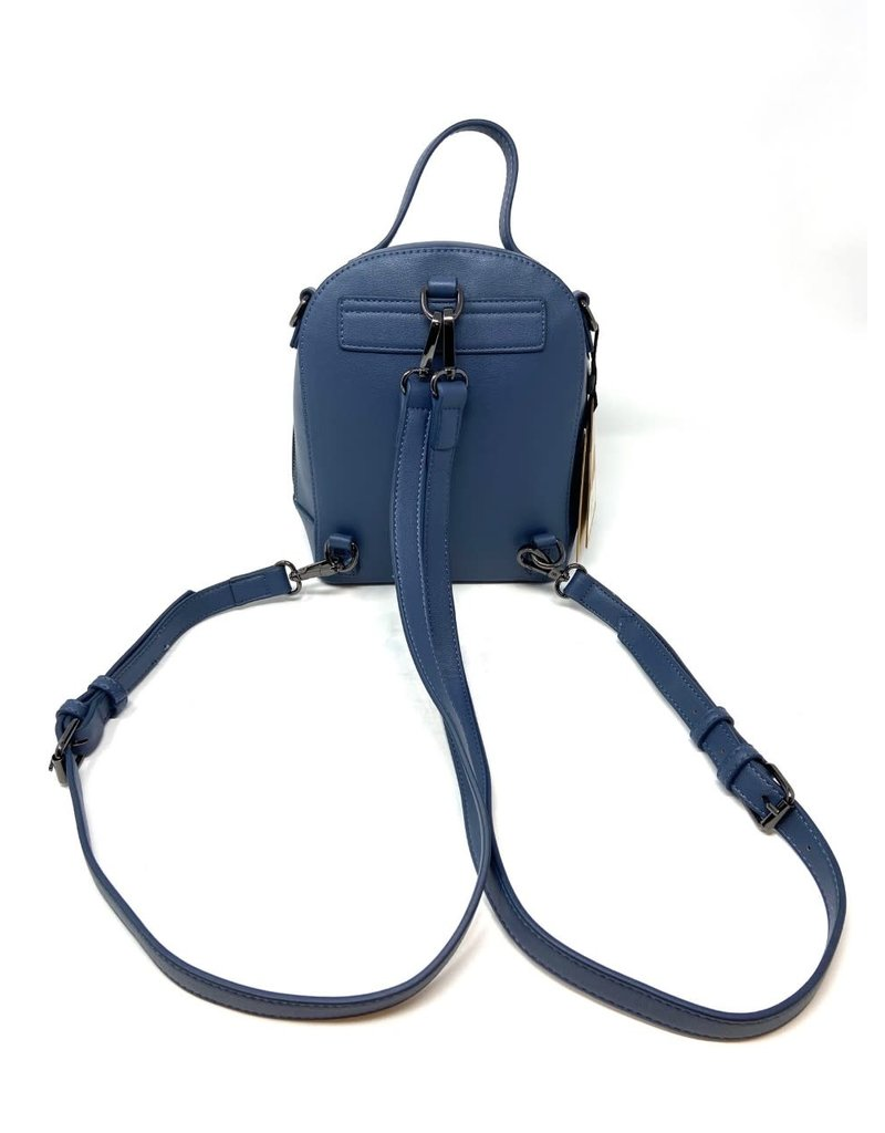 Cora Small Vegan Backpack, Midnight Blue