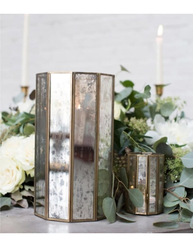 Glass Paneled 10.5in Virtue Candleholder