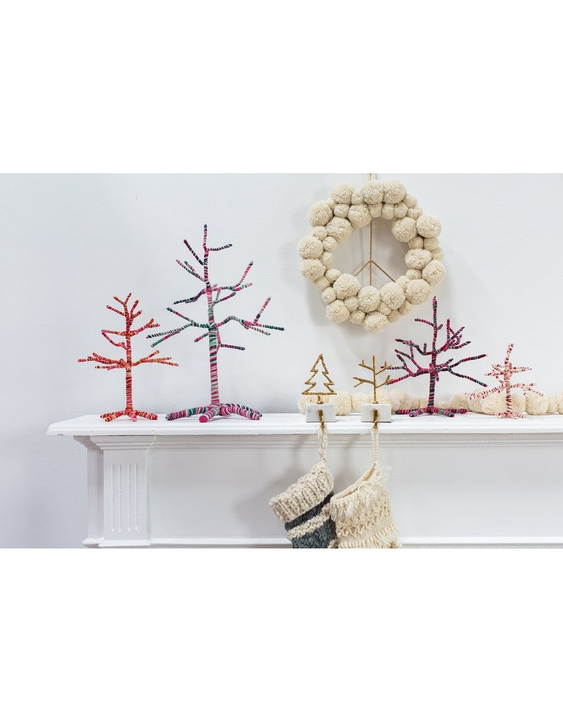 """Yarn Twig Christmas Tree, 8"""" x 8"""""""