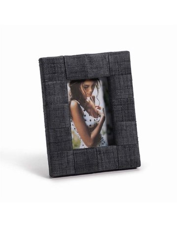 "Gray Raffia Frame, 4"" x 6"" Photo"