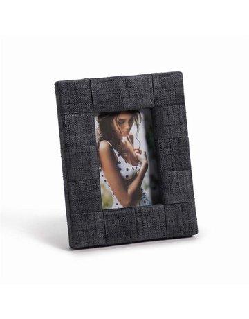 """Zodax Gray Raffia Frame, 4"""" x 6"""" Photo"""