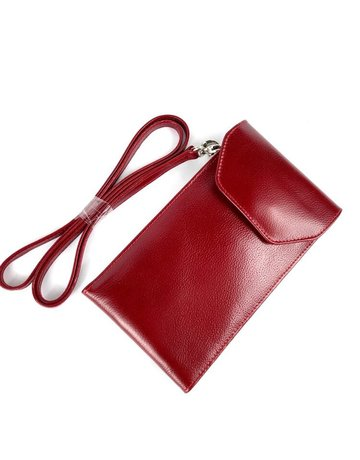 Kennedy Crossbody Phone Case, Red