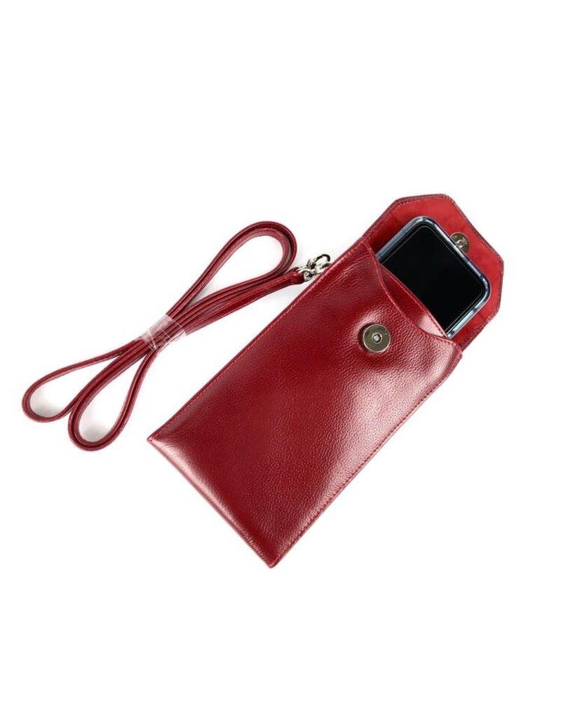Kennedy Crossbody Phone Case, Red
