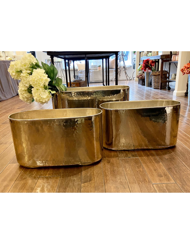 Polished Metal Container, Medium