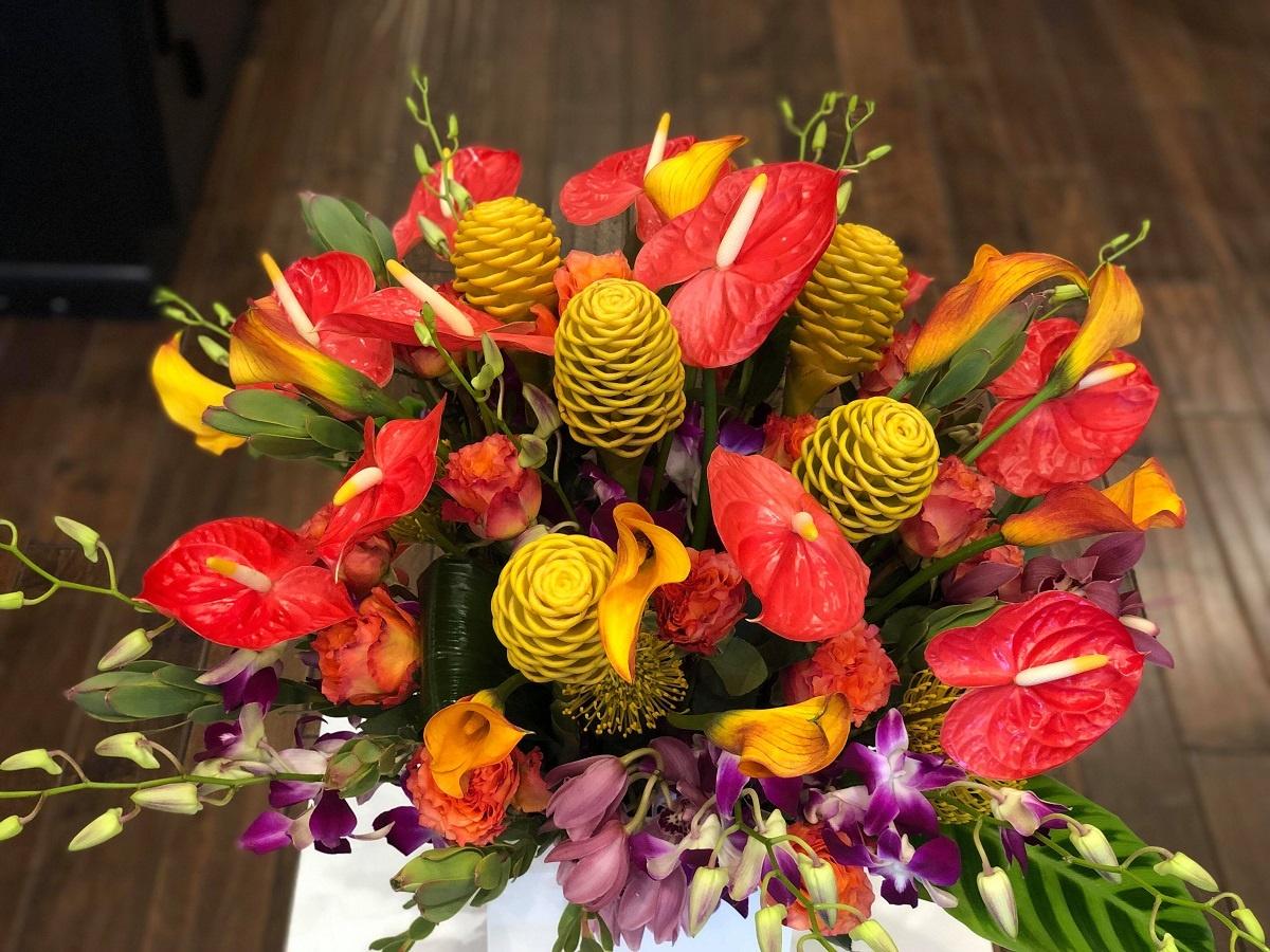 anthurium floral arrangement shop evantine philadelphia florist