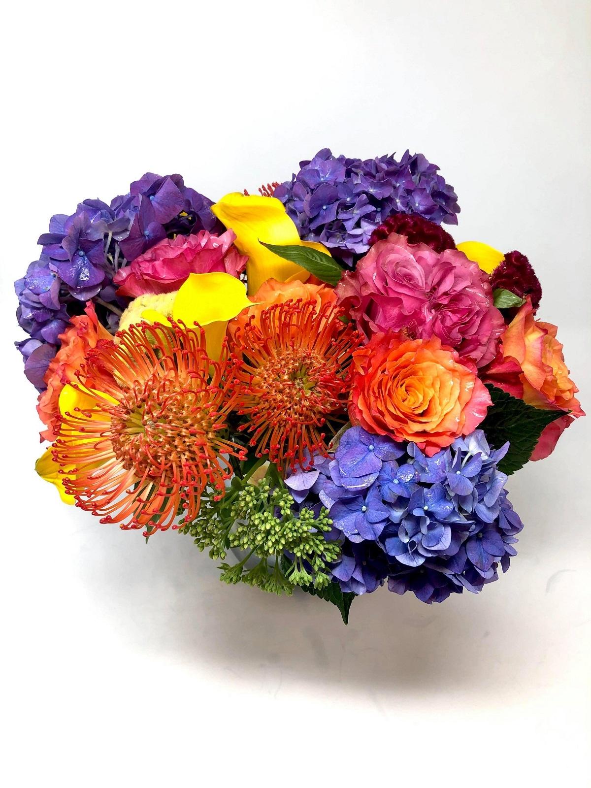 bright summer flower arrangement shop evantine