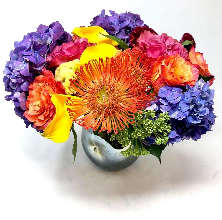 Color Crush,  a Bright Summer Floral Arrangement