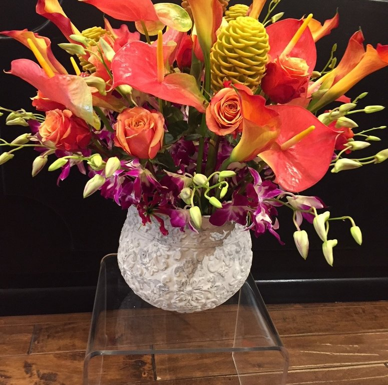 A Very Special Tropical Birthday Bouquet