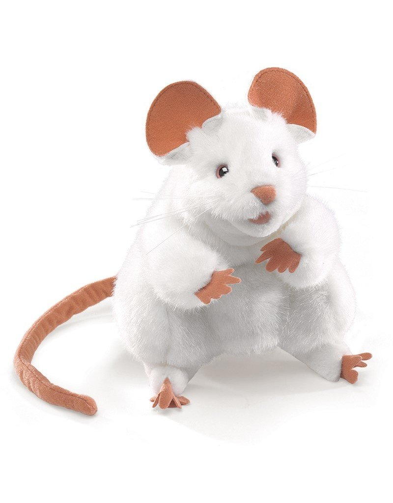 Folkmanis Hand Puppet: White Mouse