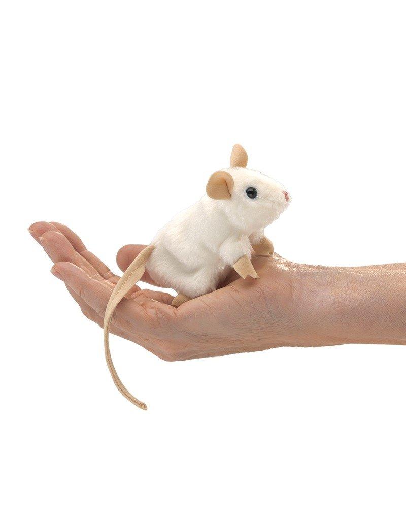 Folkmanis Finger Puppet: Mini White Mouse