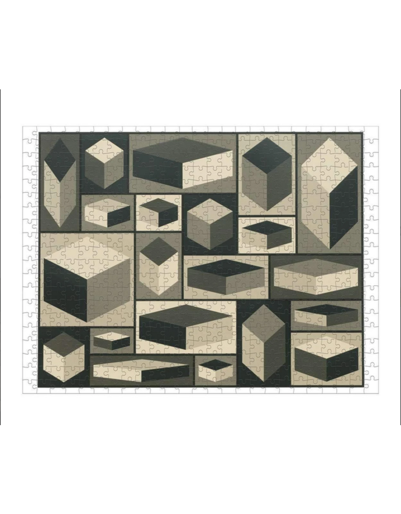 Hachette 500pc: 2 Sided MoMA Sol Lewitt Puzzle