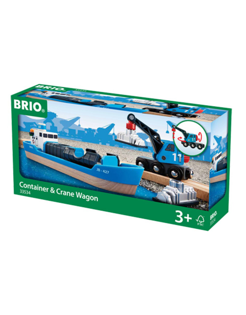 Brio Wooden Freight Ship and Crane