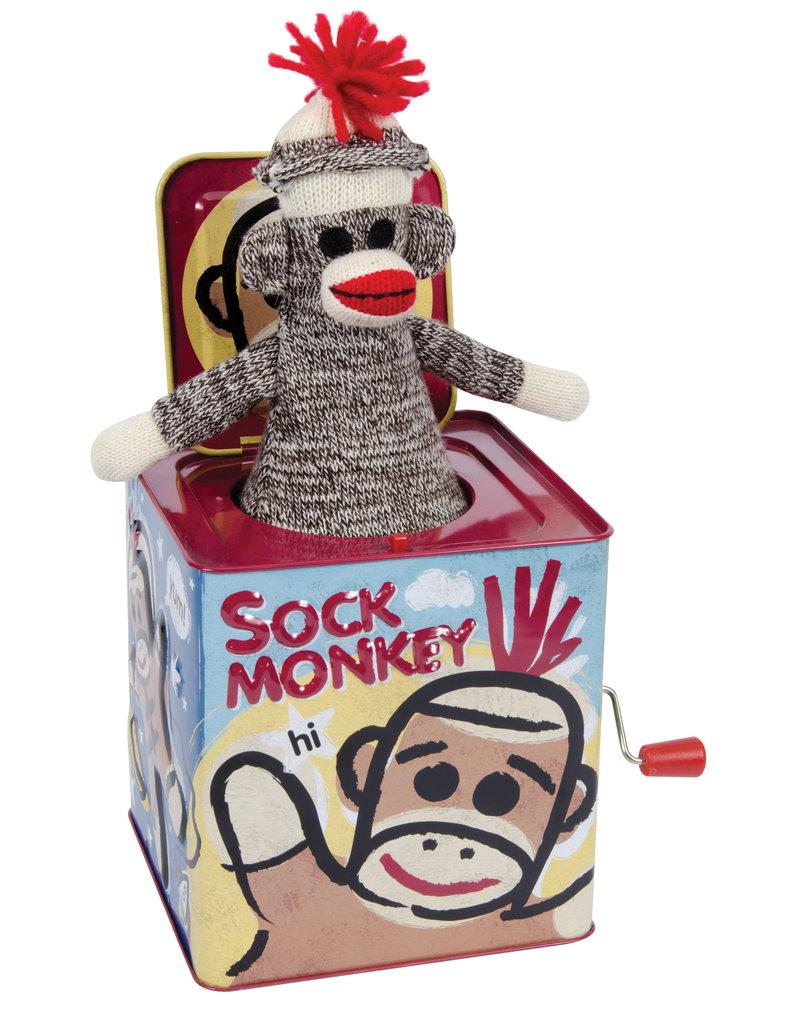 Schylling Sock Monkey Jack in a Box