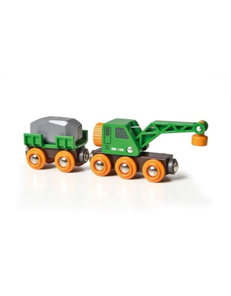 Brio Clever Crane Wagon Train