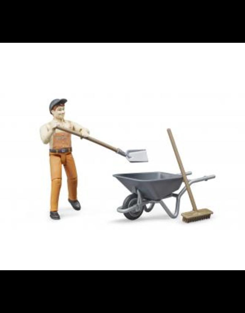 Bruder Municipal Worker Set