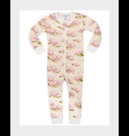 Milkbarn Zipper Pajama: Water Lilly