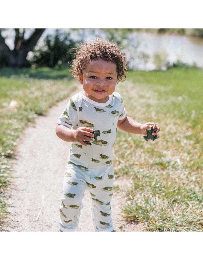 Milkbarn Zipper Pajama: Leapfrog