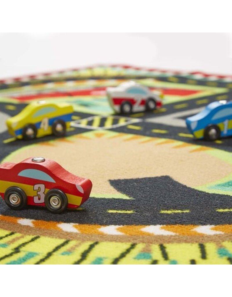Melissa & Doug Round The Speedway Rug