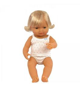 Miniland Baby Doll: Caucasian Girl