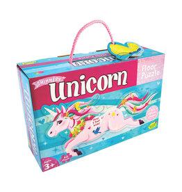 Peaceable Kingdom Shimmery Unicorn Floor Puzzle