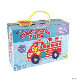 Peaceable Kingdom Fire Truck Pups Floor Puzzle