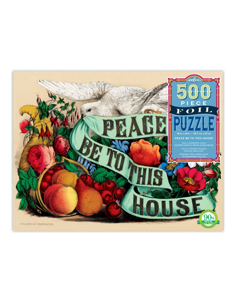 Eeboo Peace Be To This House Puzzle: 500 pc