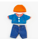 Miniland Baby Doll Clothes: Mild Weather Jean Set