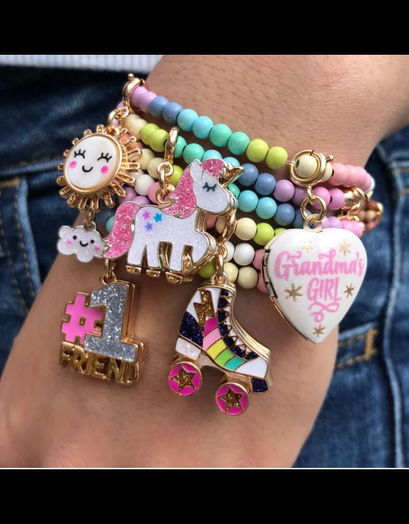 Charm It! Charm It: Rainbow Bead Bracelet