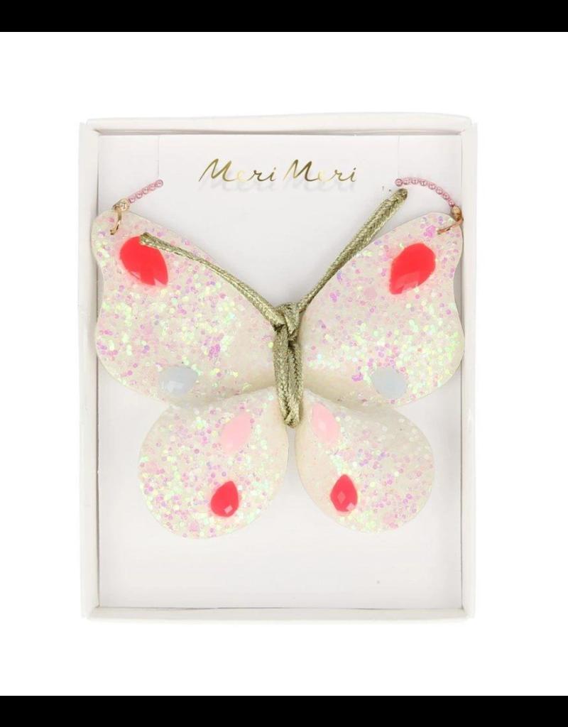 Glitter Butterfly Necklace