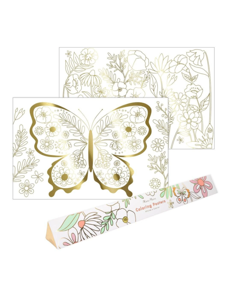 Coloring Poster: Butterfly