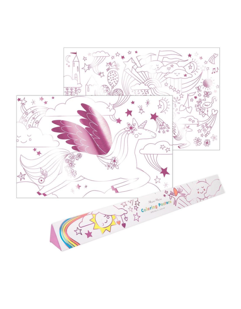 Coloring Poster: Unicorn